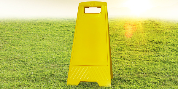 Liability insurance quote - Shows a caution sign