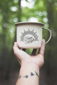 Converted van insurance - Happy Camper mug