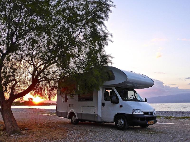 motorhome on a beach at sunset motorhome insurance